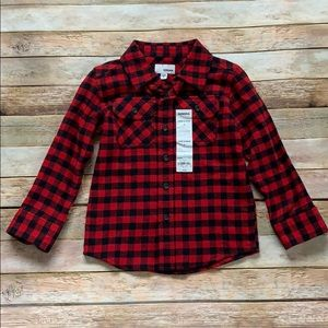 NWT Sonoma Red Checkered Flannel Shirt